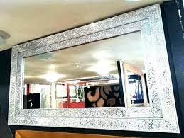 silver large framed mirror wall mirrors uk bathroom with lights lighting