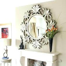 contemporary round wall decorative mirror circle mirrors art large bedroom framed modern