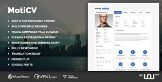 Download Themeforest Moticv V1 0 1 Vcard And Resume Builder