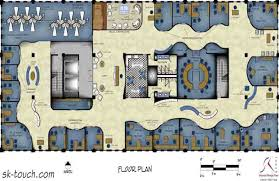 office layouts and designs. rendered plan layout office design corporate qatar layouts and designs