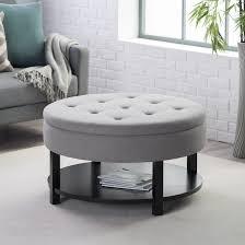 ottoman belham living dalton coffee table round tufted storage pertaining to tufted storage ottoman coffee table