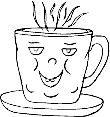 Coffee Cup Coloring Page Get Coloring Pages