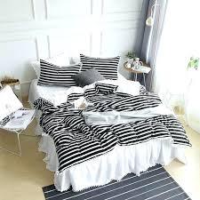 stripe black white striped bedding and twin xl bed set cotton hotel satin sets rich