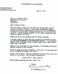 Letter Greetings Mesmerizing A Letter From Professor R Wartenberg Asking For A Reprint Of One Of