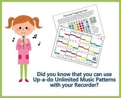 How To Play The Recorder Finger Chart Learn To Play The Recorder With Music Patterns