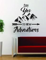 Small Picture Adventure Awaits Version 2 Mountains Arrow Design Decal Sticker