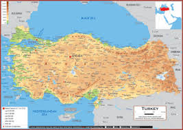 turkey physical features. Fine Features Physical Map Key Features To Turkey Features P