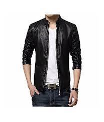 infinity men s faux leather slim fit jacket