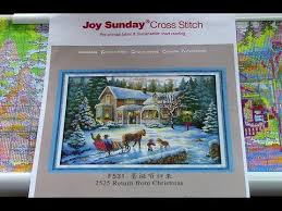 59 Маки <b>Joy Sunday Cross Stitch</b> H642 Обзор. Начало процесса ...