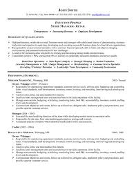 resume examples for retail store manager retail store manager resume examples