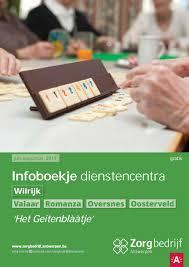 Infoboekje Dienstencentra Wilrijk By Zorgbedrijf Antwerpen Issuu