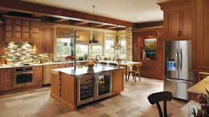 Dynasty Omega Kitchen Cabinets Rustic Kitchen With Cherry Wood Cabinets Omega