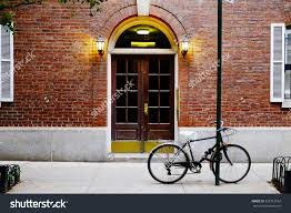 city apartment building entrance. warm city apartment building entrance stock photo beautiful door and bicycle manhattan new york classic in i