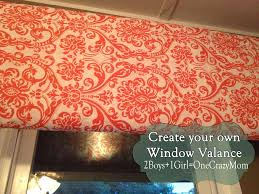 make your own dyi window valance simple and quick in any color fabric