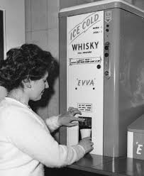 Whiskey Vending Machine Awesome British Woman Purchases A Soda And Whiskey From A Vending Machine