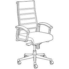 office chair drawing. Perfect Chair Office Chair Line Drawing Fice Dimension Drawings  The  Images Collection Of Top Office Chair Drawing  Intended