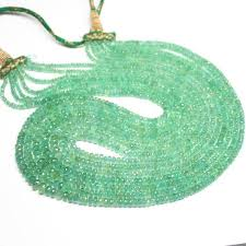 1 strand emerald rondelle faceted 20