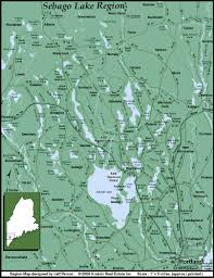 road map of sebago lake region  sebago lake region maine