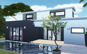 villa de luxe sims 4 avec piscine