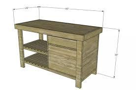 Napa New American Barnwood Kitchen Island Plan from Designs by Studio C