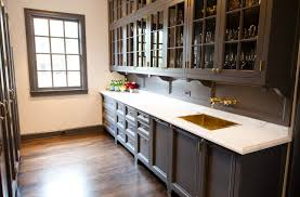 Modern Brown Painted Kitchen Cabinets Amazingly Beautiful Pantry With Grayish In Simple Ideas