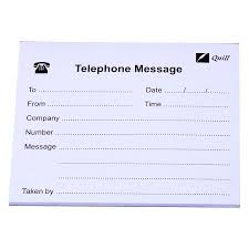 Telephone Message Quill Telephone Message Pad 50l Pads4080 Cos Complete Office