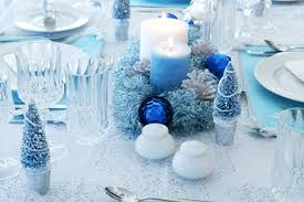 Christmas Table Decorations Blue And Silver