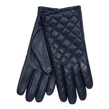 Ladies Leather Quilted Gloves Navy | Fonz Leather | Gloves/Hats ... & Ladies Leather Quilted Gloves Navy Adamdwight.com