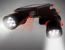 Solar Powered Security Light  Home Decorating Interior Design Solar Sensor Security Light