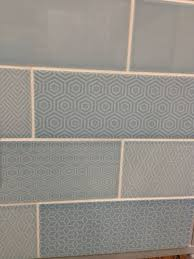 Attingham Seagrass Geometric Decor Tile Attingham powder blue with random geometric patterns from Topps 33