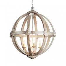 rustic style chandelier light with orb