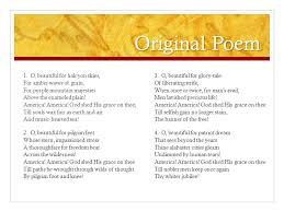 America the Beautiful Lyrics by Katherine Lee Bates music by