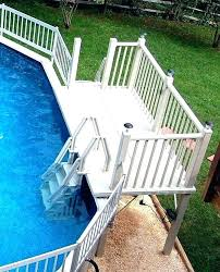 new wood pool design wooden poolside natural stone white deck decks swimming designs square above ground pool modest