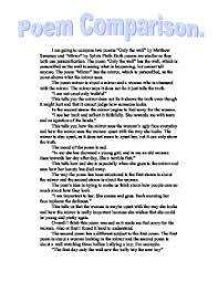 compare two poems only the wall by matthew sweeney and mirror by  page 1 zoom in