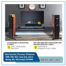 Dàn âm thanh Paramax Platinum D88, Đẩy liền vang kèm micro không dây  BKSound DP8000