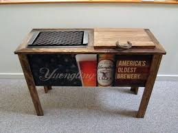 wood outdoor cooler used chill n grill wooden outdoor cooler and barbecue for in outdoor wood outdoor cooler