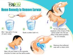 salt water for ear wax removal