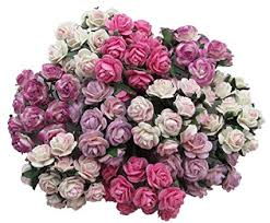 Buy Paper Flower Buy 100 Pcs Mini Rose Mixed Pink Color Mulberry Paper Flower