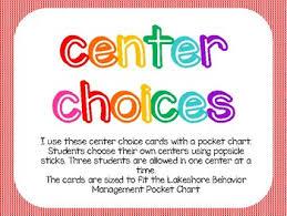 Rainbow Center Choice Chart