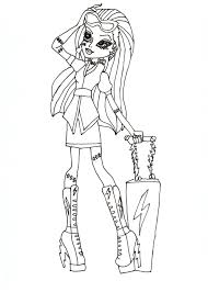 Small Picture Monster High Printable Coloring Pages Free Design Kids Design Kids
