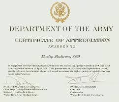 free templates for certificates of appreciation army certificate of appreciation template department of the army