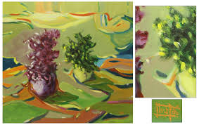 fine art original expressionist acrylic painting still life