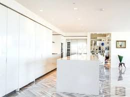 modern white tile floor. Kitchen Cabinets Floor To Ceiling Modern White Cabinet With Quartz And Porcelain Tile Floors Small H