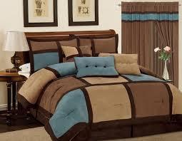 image of brown comforter set king