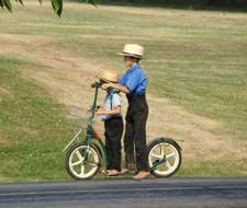 Image result for amish on a scooter