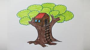 how to draw a treehouse step by step. Unique Draw How To Draw A Treehouse Step By And To Draw A Treehouse Step By YouTube