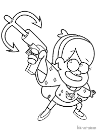 Gravity Falls Coloring Pages Print And Colorcom