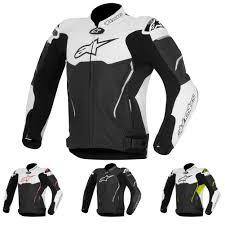 details about alpinestars racing atem leather motorcycle street bike mens track moto jackets
