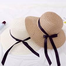 Summer Sun Hat With Bowknot Women Wide Brim Floppy Beach Bohemia Lady Straw Hats