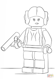 Small Picture Lego Princess Leia coloring page Free Printable Coloring Pages